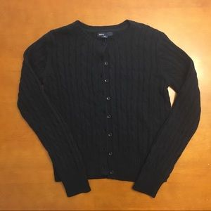 GapKids Black Cable Knit Cardigan (12)